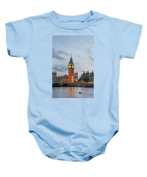 Tower Of London In The Moonlight Baby Onesie