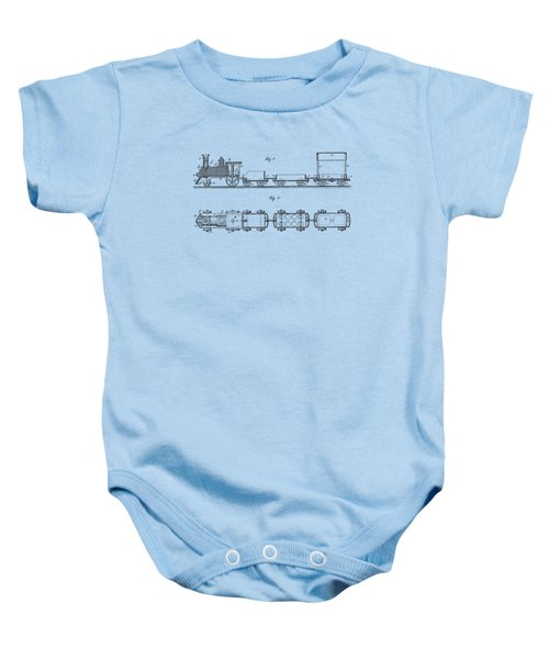 Toy Train Tee Baby Onesie by Edward Fielding