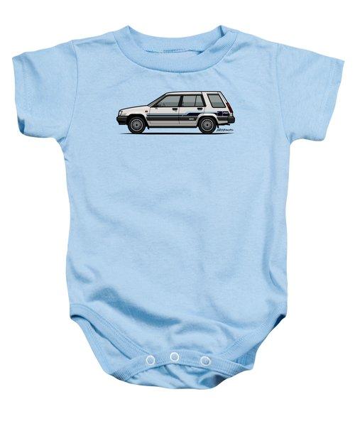 Toyota Tercel Sr5 4wd Wagon Al25 White Baby Onesie