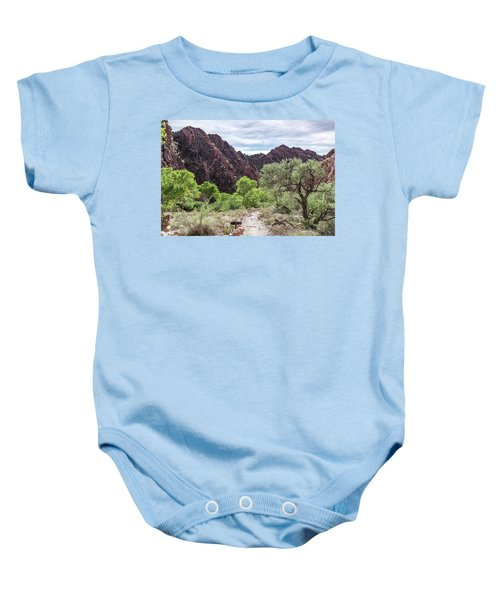 Trail Into Phantom Ranch, Grand Canyon Baby Onesie