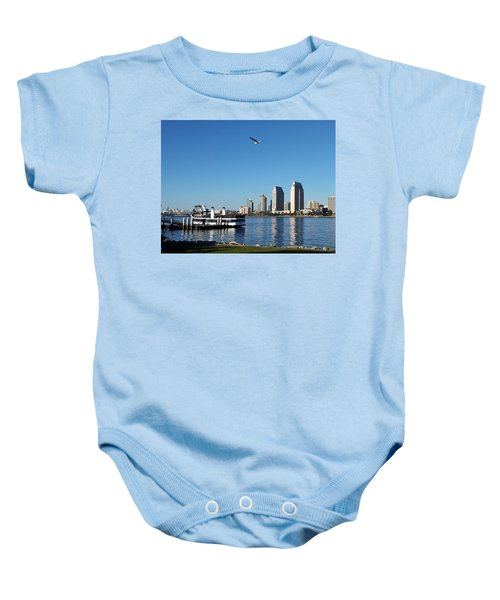 Tranquility By The Bay Baby Onesie
