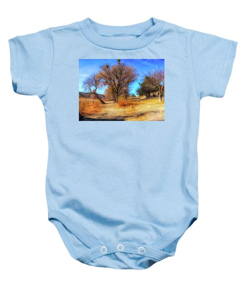 Trees Along Elizabeth Lake Baby Onesie