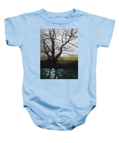 Trent Side Tree. Baby Onesie