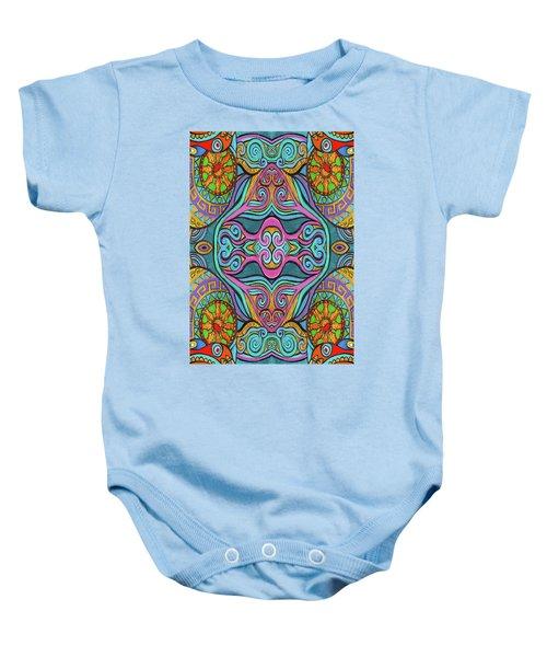 Trippy Pattern Baby Onesie