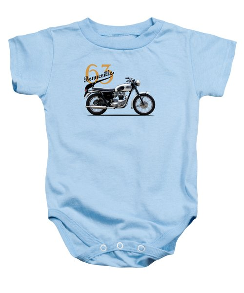 Triumph Bonneville 1963 Baby Onesie by Mark Rogan