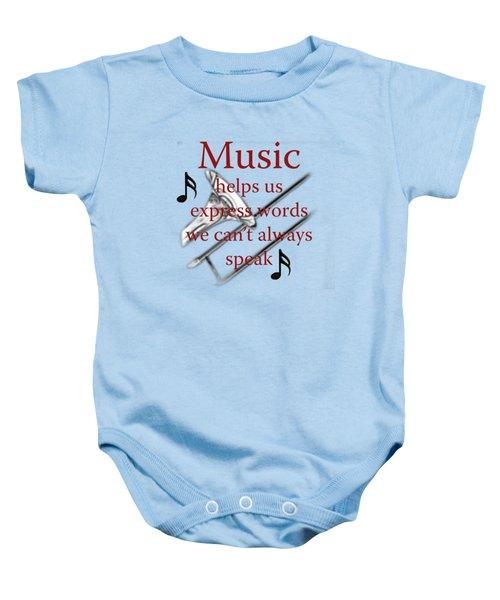 Trombone Music Expresses Words Baby Onesie