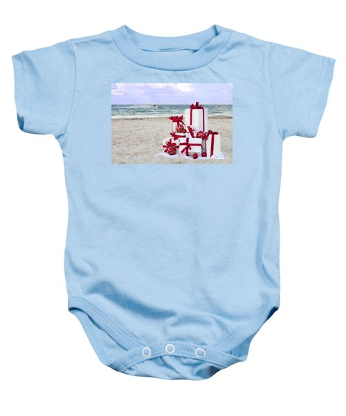 tropical christmas vacation baby onesie - Christmas Vacation Onesie