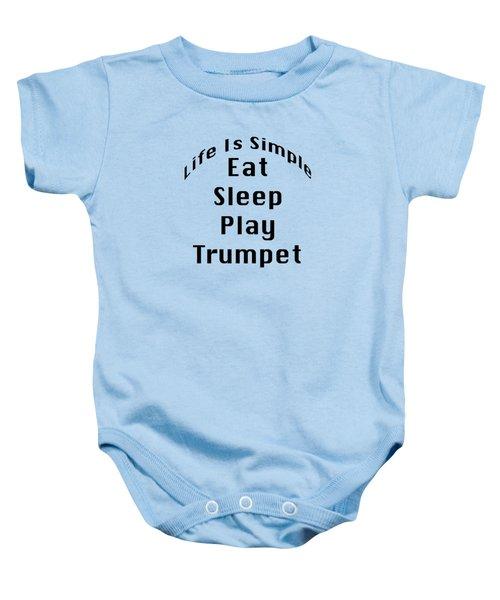 Trumpet Eat Sleep Play Music 5504.02 Baby Onesie