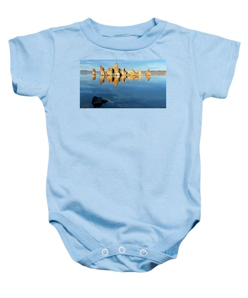 Tufa Reflection At Mono Lake Baby Onesie