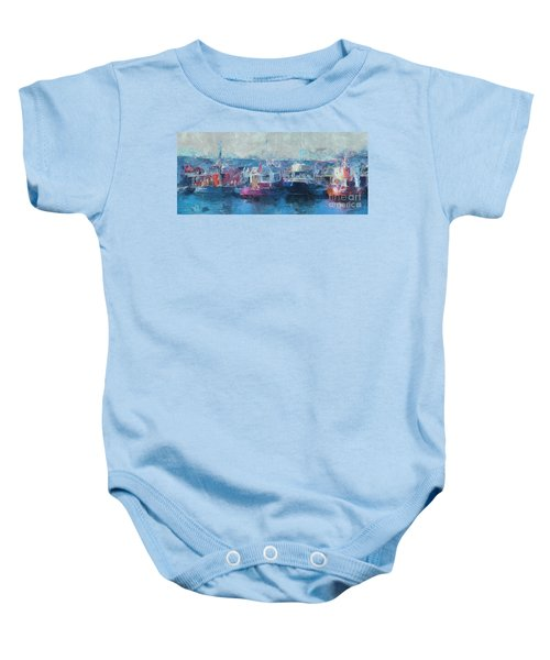 Tugs Together  Baby Onesie