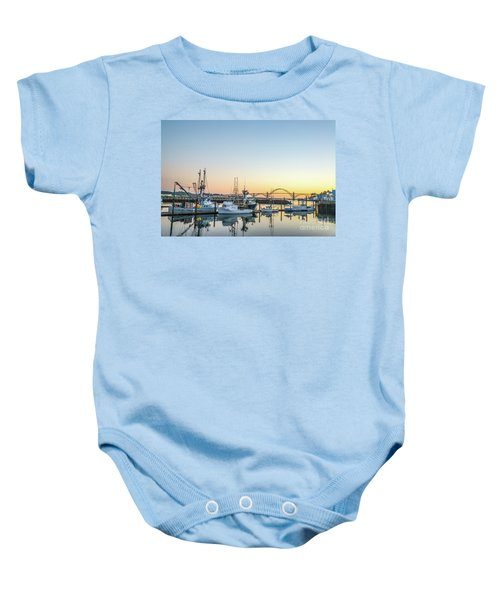 Tuna Boats Resting For The Night Baby Onesie