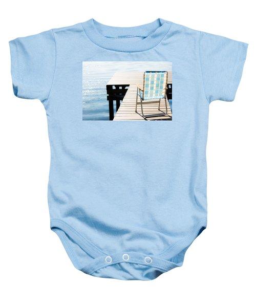 Turquoise Paradise Baby Onesie