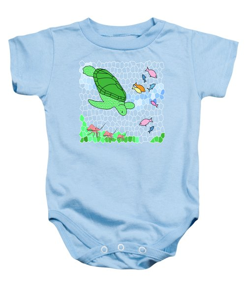 Turtle And Friends Baby Onesie