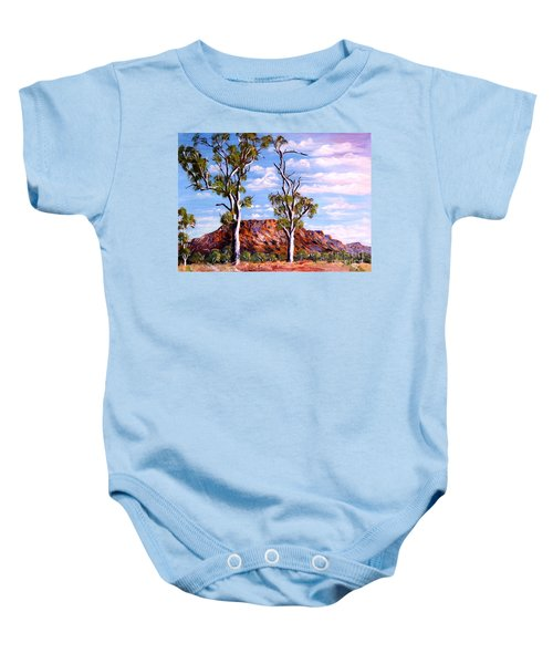 Twin Ghost Gums Of Central Australia Baby Onesie