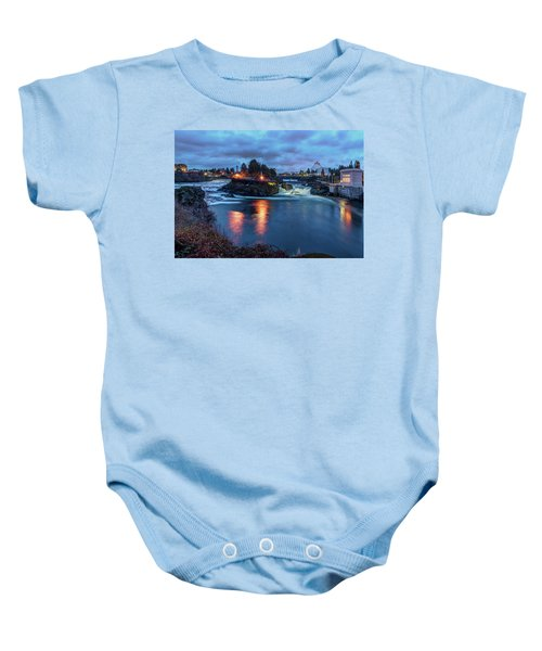 Upper Spokane Falls At Dusk Baby Onesie