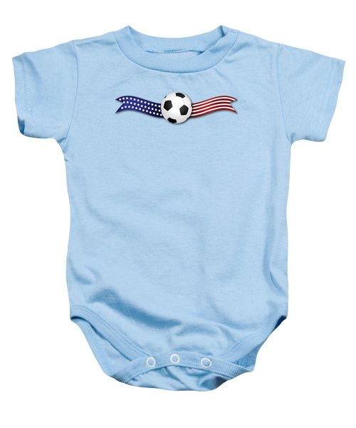 Usa Soccer Baby Onesie