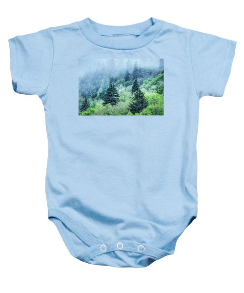 Verdant Forest In The Great Smoky Mountains Baby Onesie