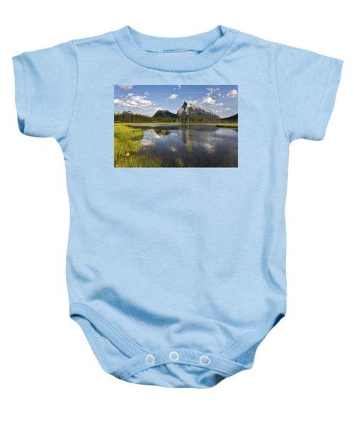 Vermillion Lake And Sulpher Mountain Baby Onesie