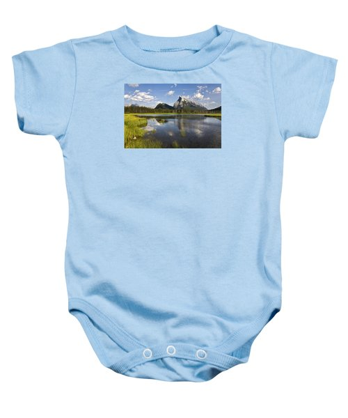 Vermillion Lake And Sulpher Mountain Baby Onesie