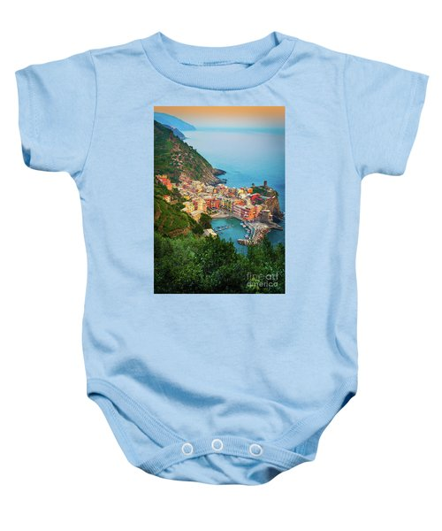 Vernazza From Above Baby Onesie