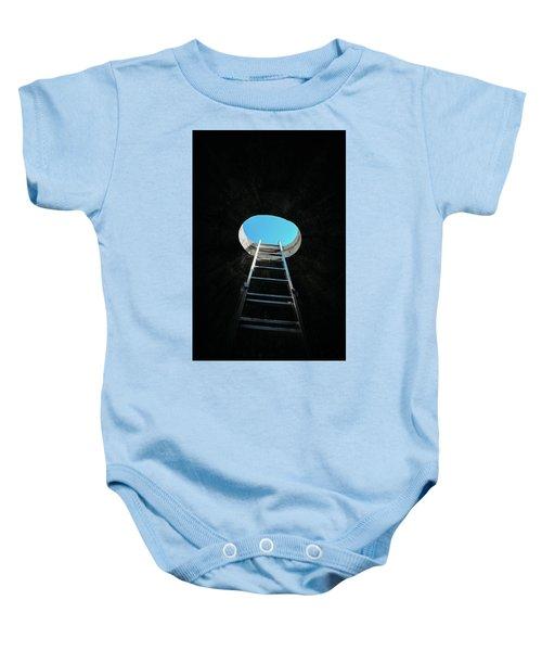 Vertical Step-ladder On Ceiling Window  Baby Onesie