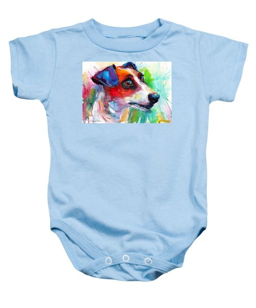 Vibrant Jack Russell Terrier Dog Baby Onesie