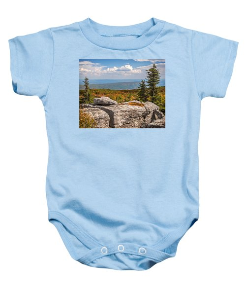 View From Bear Rocks 4173c Baby Onesie