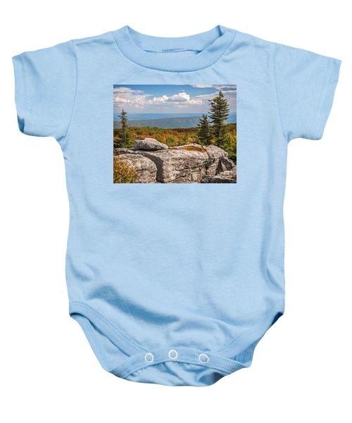 View From Bear Rocks 4173c Baby Onesie