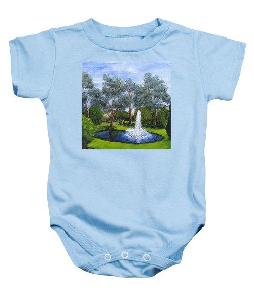 Village Fountain Baby Onesie