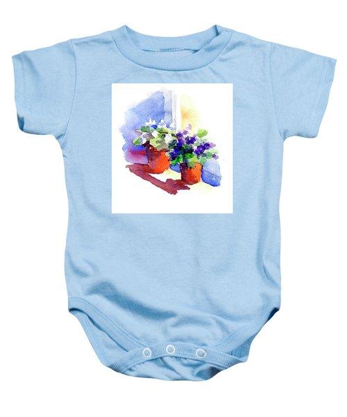 Violets Are Blue Baby Onesie