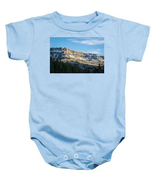 Volcanic Cliffs Of Wolf Creek Pass Baby Onesie