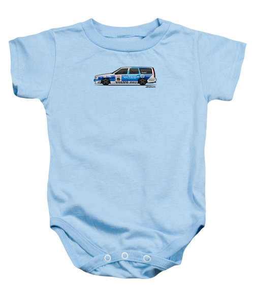 Volvo 850r Twr British Touring Car Championship  Baby Onesie by Monkey Crisis On Mars