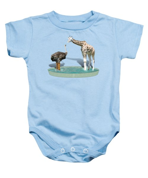 Wading Pool Baby Onesie by Gravityx9  Designs