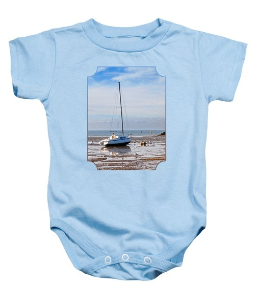 Waiting For High Tide Baby Onesie by Gill Billington