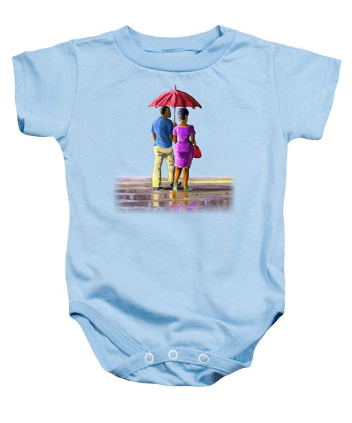 Walk In The Rain Baby Onesie