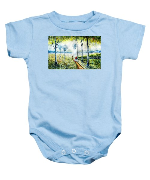 Walk Into The World Baby Onesie