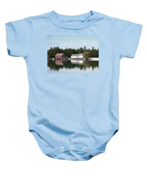 Washington Island Harbor 7 Baby Onesie