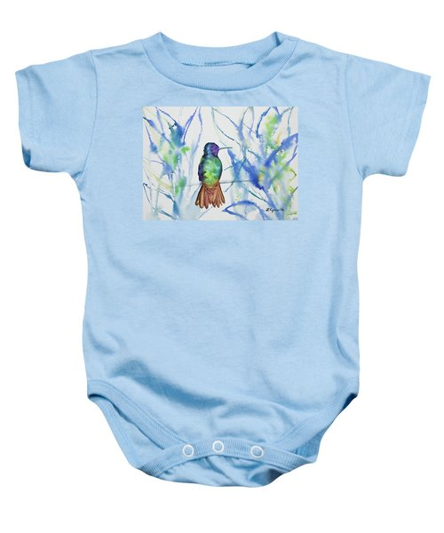 Watercolor - Golden-tailed Sapphire Baby Onesie