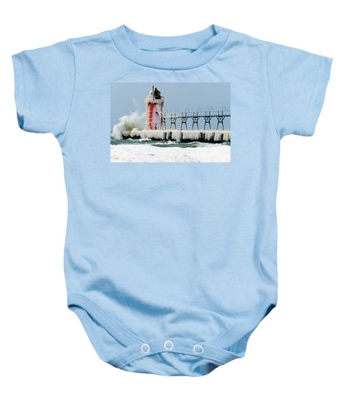 Wave Crashing On Snow-covered South Baby Onesie