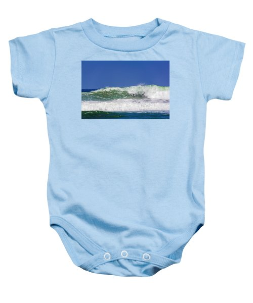 Wave Rolling To The Beach Baby Onesie
