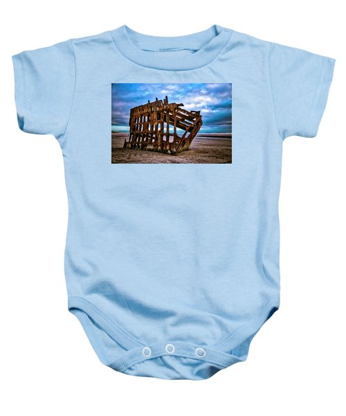 Weathered Shipwreck Baby Onesie