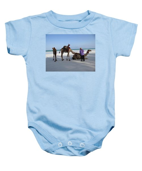 Wedding Camels In The Waiting ... Baby Onesie