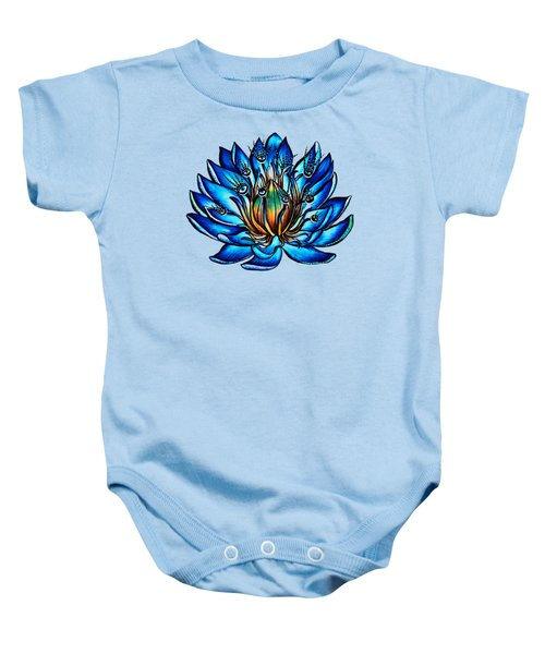 Weird Multi Eyed Blue Water Lily Flower Baby Onesie
