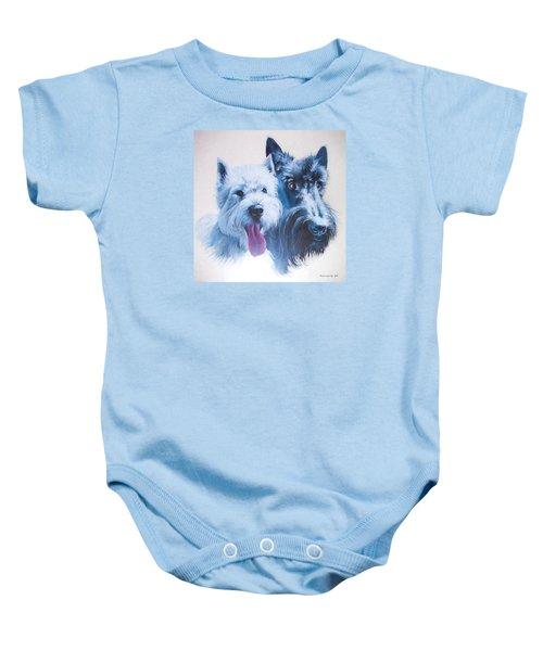 Westie And Scotty Dogs Baby Onesie