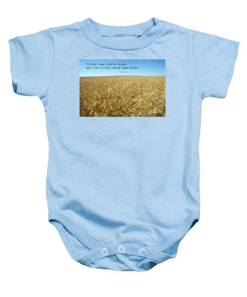 Wheat Field Harvest Season Baby Onesie