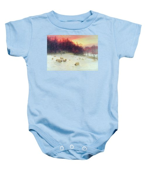 When The West With Evening Glows Baby Onesie