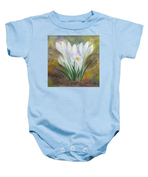 White Crocus Baby Onesie