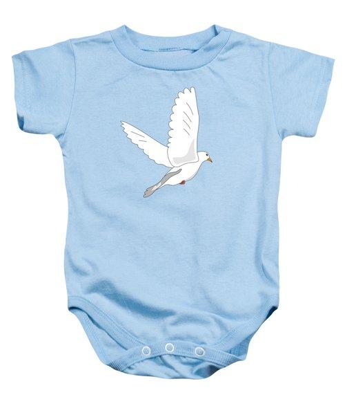 White Dove Baby Onesie
