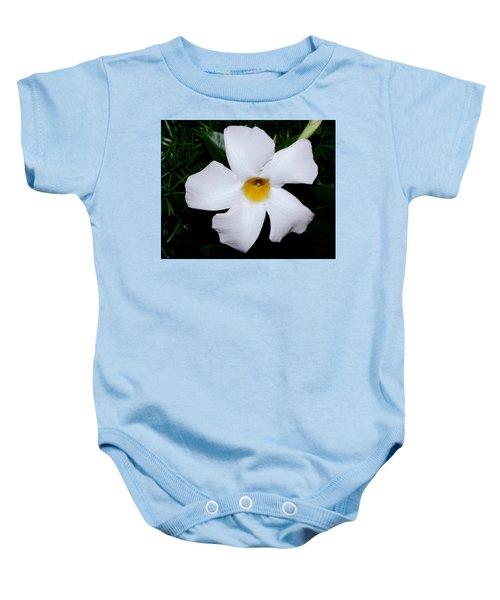 White Mandevilla Baby Onesie