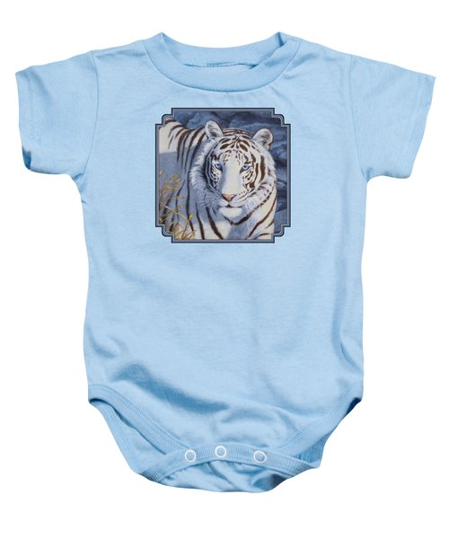 White Tiger - Crystal Eyes Baby Onesie by Crista Forest